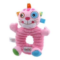 Lion Hand Bell Baby Cartoon Ring Kid Plush Rattles Soft Toy