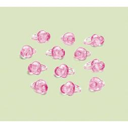 Pink Mini Pacifier Favor Charms, 24ct