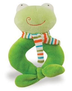Rich Frog RING RATTLE FROG baby plush rattle toy NEW with ta