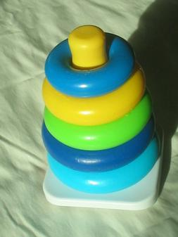 Fisher-Price Rock-a-Stack Toy 5 colorful rings perfect for g