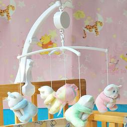 Rotary Baby Mobile Crib Bed Toys Clockwork Movement Music Bo