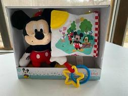 stroller toys and book gift set mickey