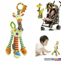 US Newborn Baby Funny Pram Bed Bells Soft Hanging Toys Anima