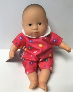 """Corolle Vintage Mini Baby Doll Toy 8"""" Les Minis in Pink Jump"""
