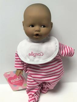"""Corolle Vintage Mini Baby Doll Toy 8"""" Les Minis in Striped J"""