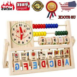 Wooden Abacus Learning Early Educational Development Toys Fo