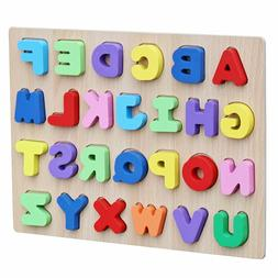 Timy Wooden Alphabet Puzzle Board for Toddlers Educational E
