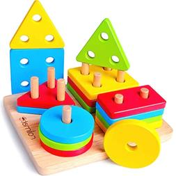 Wooden Educational Learning Baby Toys, Motor Sorting & Stack